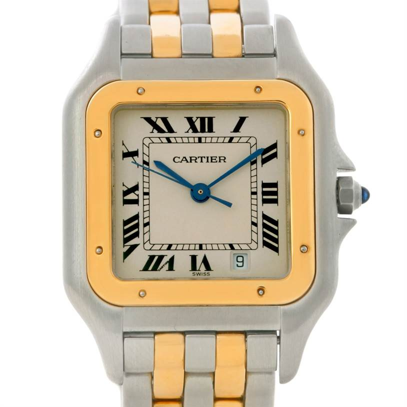 8848 Cartier Panthere Large Steel 18K Yellow Gold Watch W25028B6 SwissWatchExpo