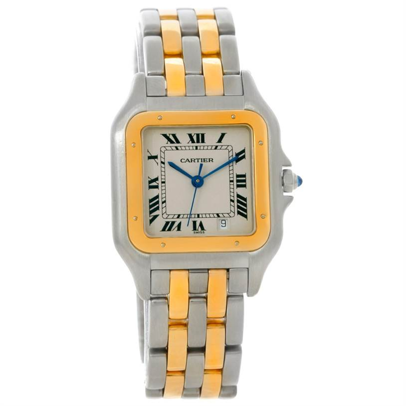 8710 Cartier Panthere Large Steel 18K Yellow Gold Watch W25028B6 SwissWatchExpo
