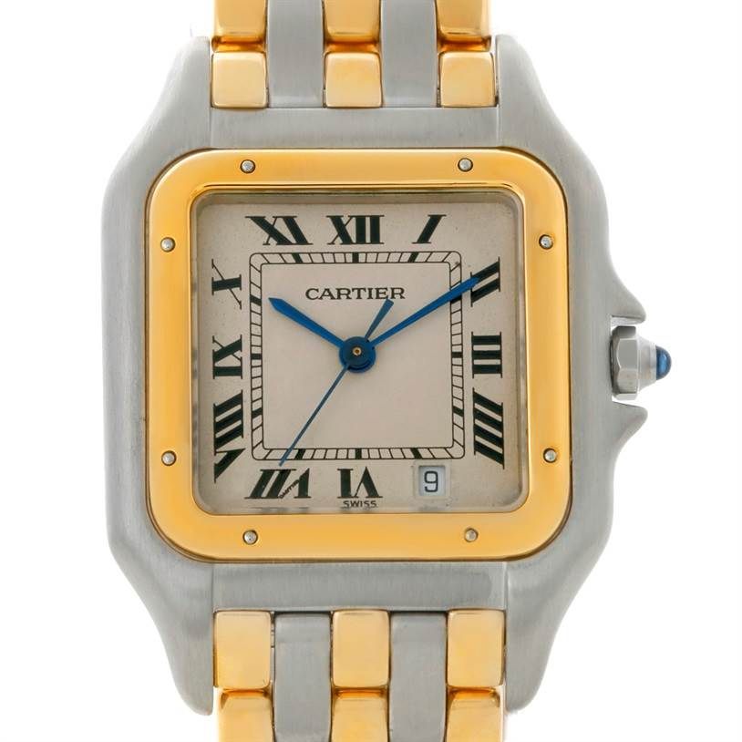 8856 Cartier Panthere Large Steel 18K Yellow Gold Watch W25028B8 SwissWatchExpo