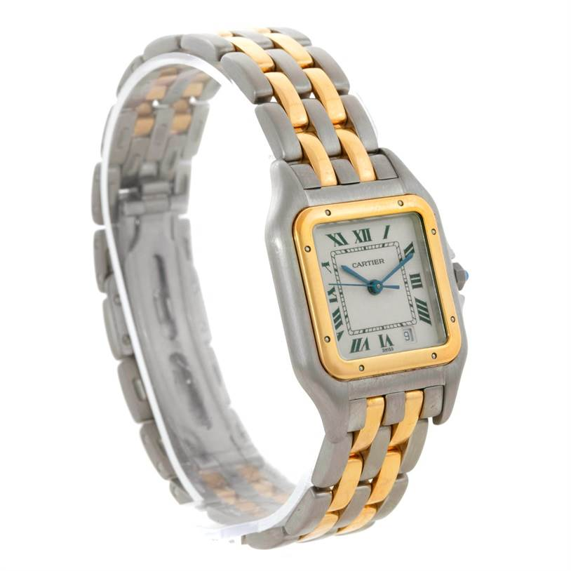 8219 Cartier Panthere Large Steel 18K Yellow Gold Watch W25028B6 SwissWatchExpo