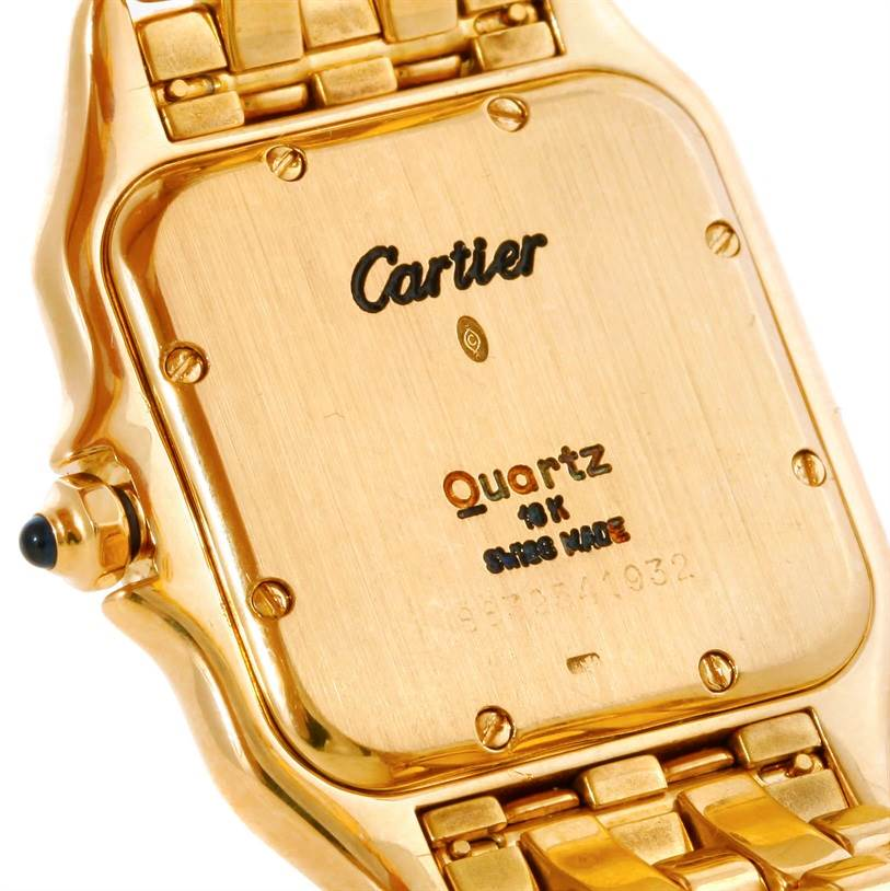 8715 Cartier Panthere Large 18k Yellow Gold Watch  SwissWatchExpo