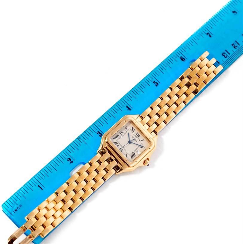 9097 Cartier Panthere XL 18k Yellow Gold Watch W25014B9 SwissWatchExpo