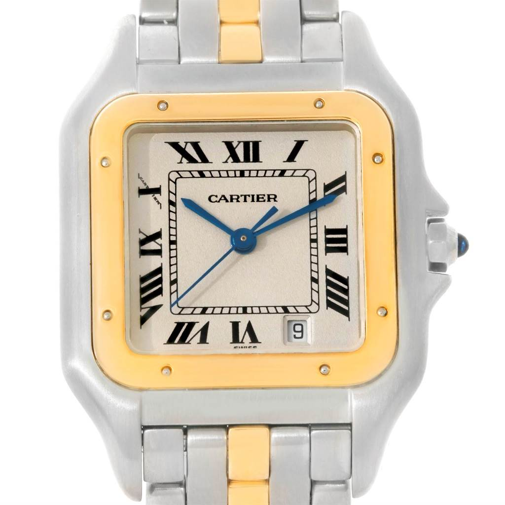 9312 Cartier Panthere Large Steel 18K Yellow Gold Watch W25028B5 SwissWatchExpo