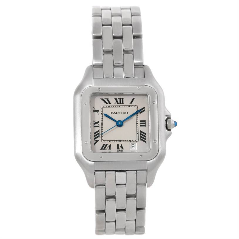 6512 Cartier Panthere Large Stainless Steel Watch W25054P5 SwissWatchExpo