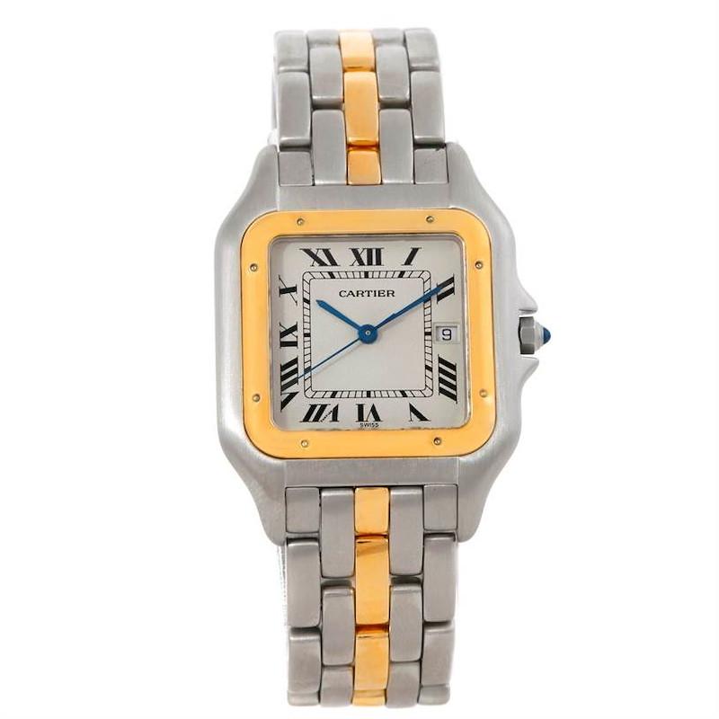 Cartier Panthere Jumbo Steel 18K Yellow Gold One Row Watch SwissWatchExpo