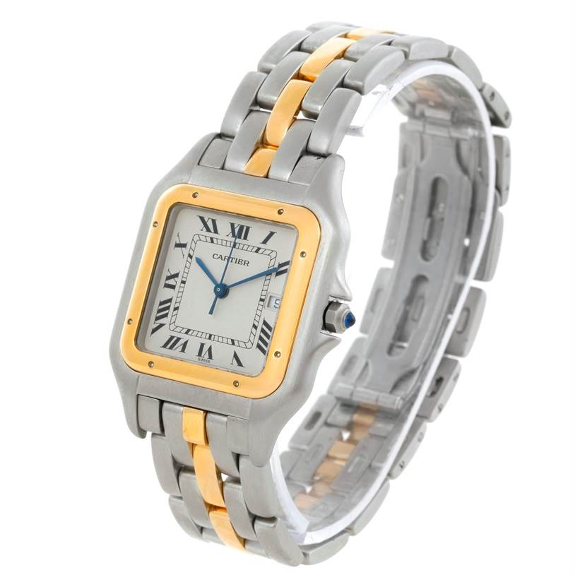 9101 Cartier Panthere Jumbo Steel 18K Yellow Gold One Row Watch SwissWatchExpo