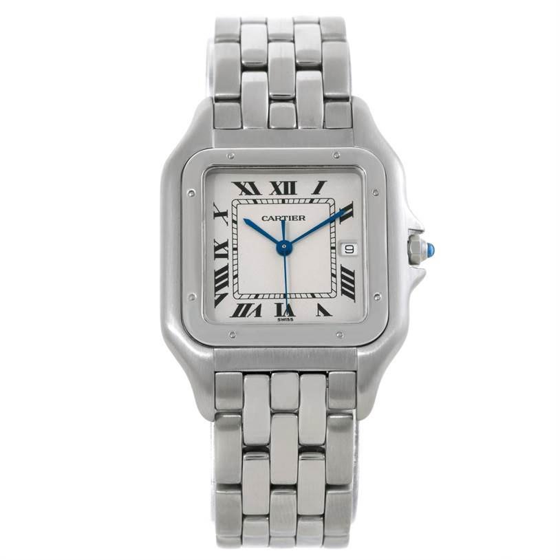 5866 Cartier Panthere Jumbo Stainless Steel Watch W25032P5  SwissWatchExpo