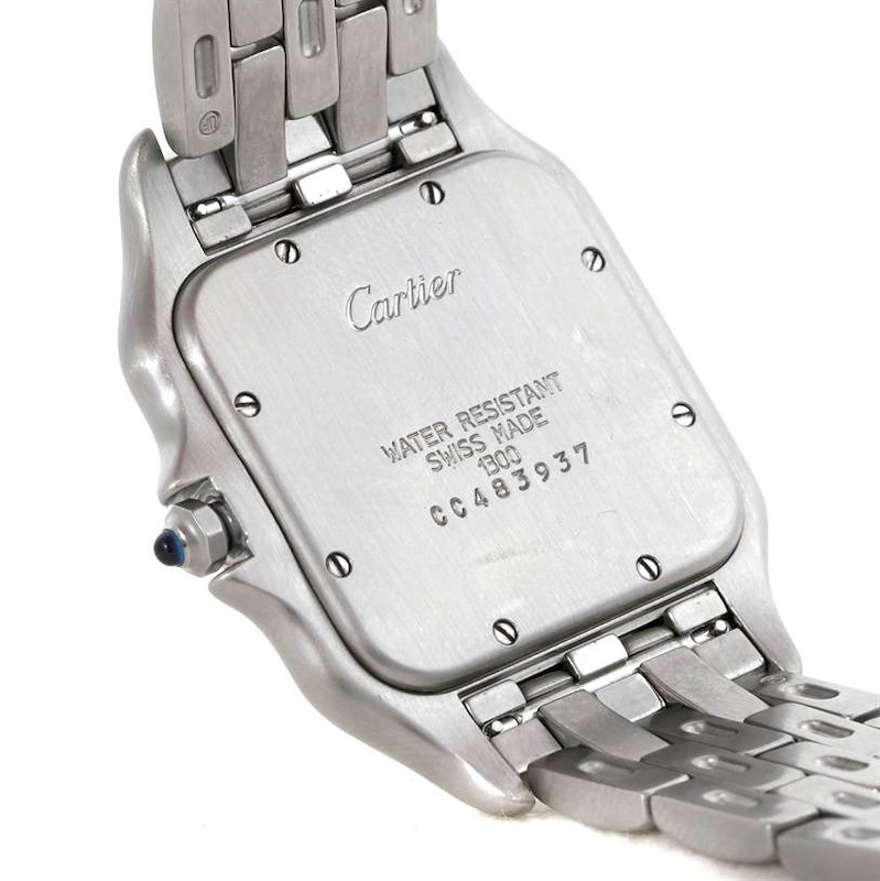 Cartier Panthere Jumbo Stainless Steel Watch W25032P5 SwissWatchExpo
