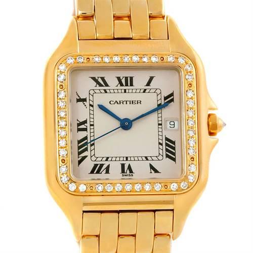 Photo of Cartier Panthere Jumbo 18K Yellow Gold Diamond Watch