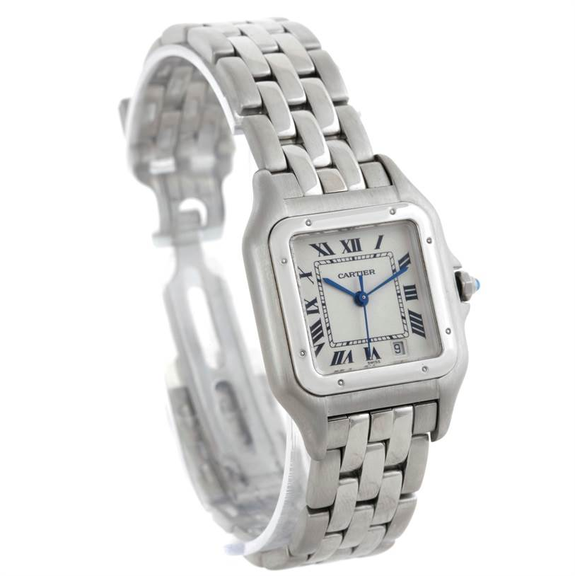 7672 Cartier Panthere Stainless Steel Large Watch W25054P5 SwissWatchExpo