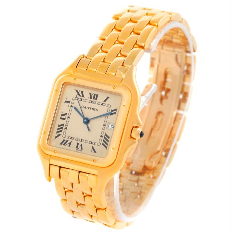 9486 Cartier Panthere XL 18K Yellow Gold Watch W25014B9 SwissWatchExpo