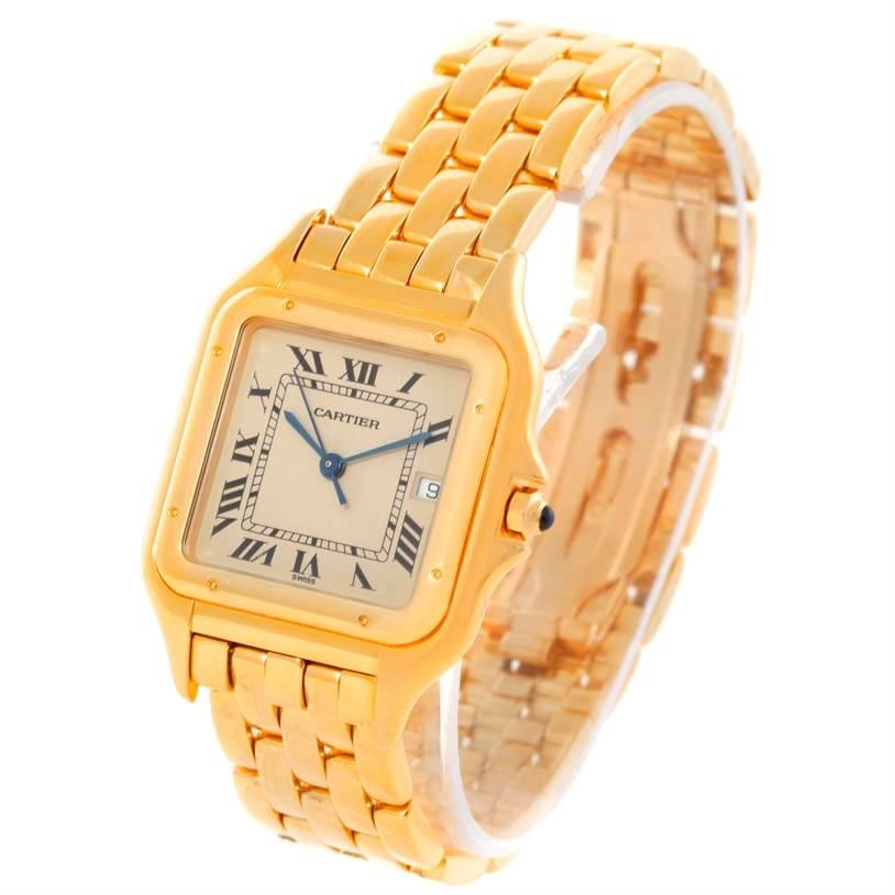 Cartier Panthere XL 18K Yellow Gold Watch W25014B9 SwissWatchExpo