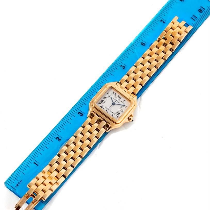9455 Cartier Panthere XL 18K Yellow Gold Date Watch W25014B9 SwissWatchExpo