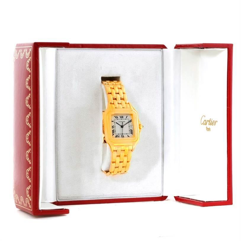 9895 Cartier Panthere Date XL 18K Yellow Gold Watch W25014B9 SwissWatchExpo