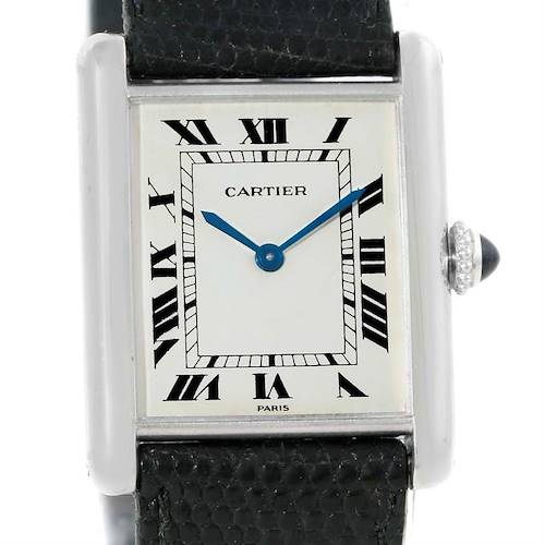 Photo of Cartier Tank Classic Paris 18k White Gold Ultra Thin Mechanical Watch