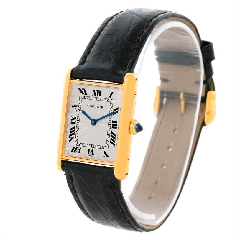 10653 Cartier Tank Classic Paris 18k Yellow Gold Ultra Thin Mechanical Watch SwissWatchExpo