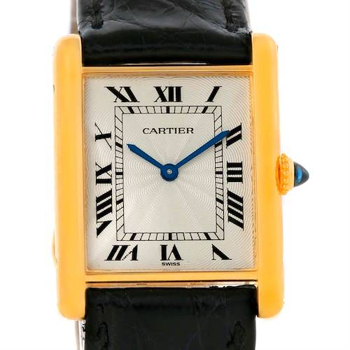 Photo of Cartier Tank Classic Paris 18k Yellow Gold Ultra Thin Mechanical Watch