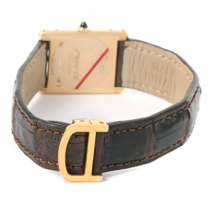 12167 Cartier Tank Classic 18k Yellow Gold Ultra Thin Mechanical Watch SwissWatchExpo