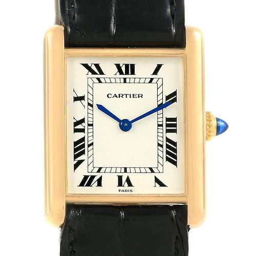 Photo of Cartier Tank Classic Paris Yellow Gold Ultra Thin Vintage Manual Watch