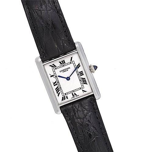 2008 Cartier Tank Mecanique Platinum Watch SwissWatchExpo