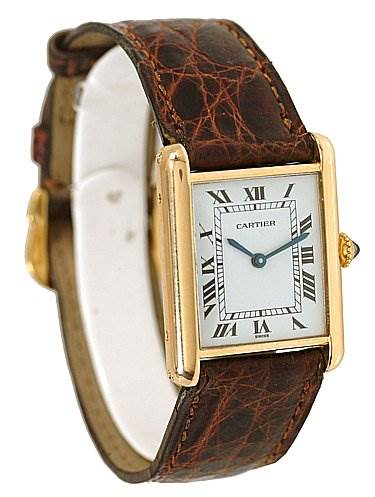 2139 Cartier Tank Classic Mens 18k Yellow Gold Watch  SwissWatchExpo