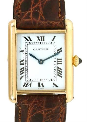 Photo of Cartier Tank Classic Mens 18k Yellow Gold Watch