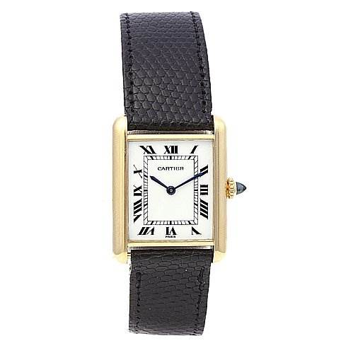 2082 Cartier Tank Classic Mens 18k Yellow Gold Watch  SwissWatchExpo