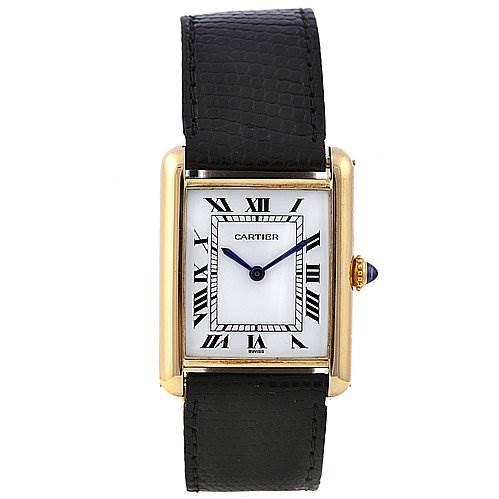2256 Cartier Tank Classic 18k Yellow Gold Unisex Watch SwissWatchExpo