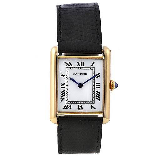 Cartier Tank Classic 18k Yellow Gold Unisex Watch SwissWatchExpo