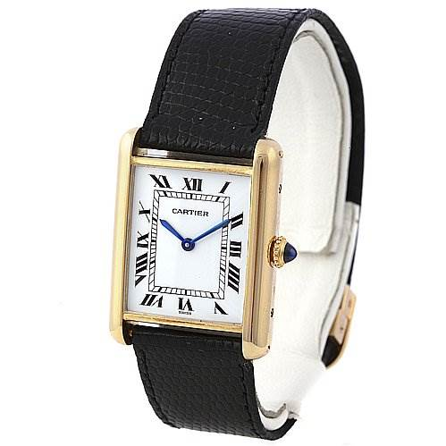 2256 Cartier Tank Classic 18k Yellow Gold Unisex Watch SwissWatchExpo