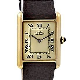 2365 Cartier Tank Classic Gold Plated Unisex Watch SwissWatchExpo