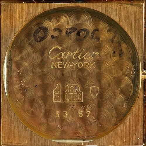 2464 Cartier Tank Classic 18k y Gold Audemar Piguet Movement SwissWatchExpo