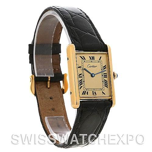 2514 Cartier Tank Classic Gold Plated Unisex Watch SwissWatchExpo