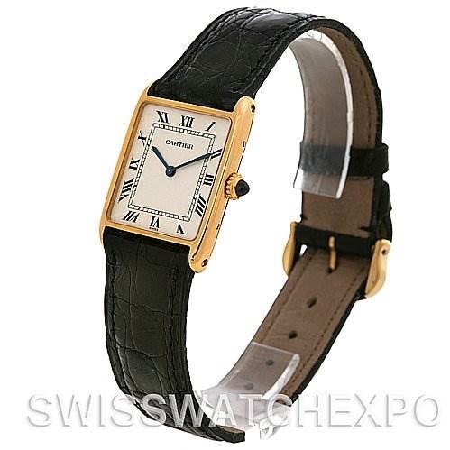 Cartier  Tank Mecanique Paris 18K Yellow Gold Watch SwissWatchExpo