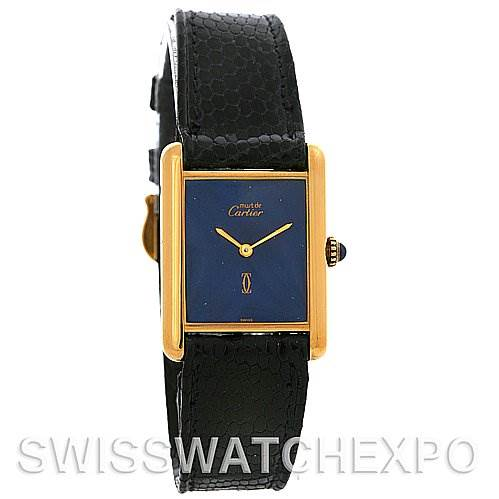 2618 Cartier  Tank Classic Gold Plated Unisex Watch  SwissWatchExpo
