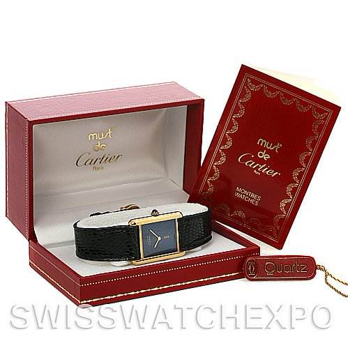 Cartier  Tank Classic Gold Plated Unisex Watch SwissWatchExpo