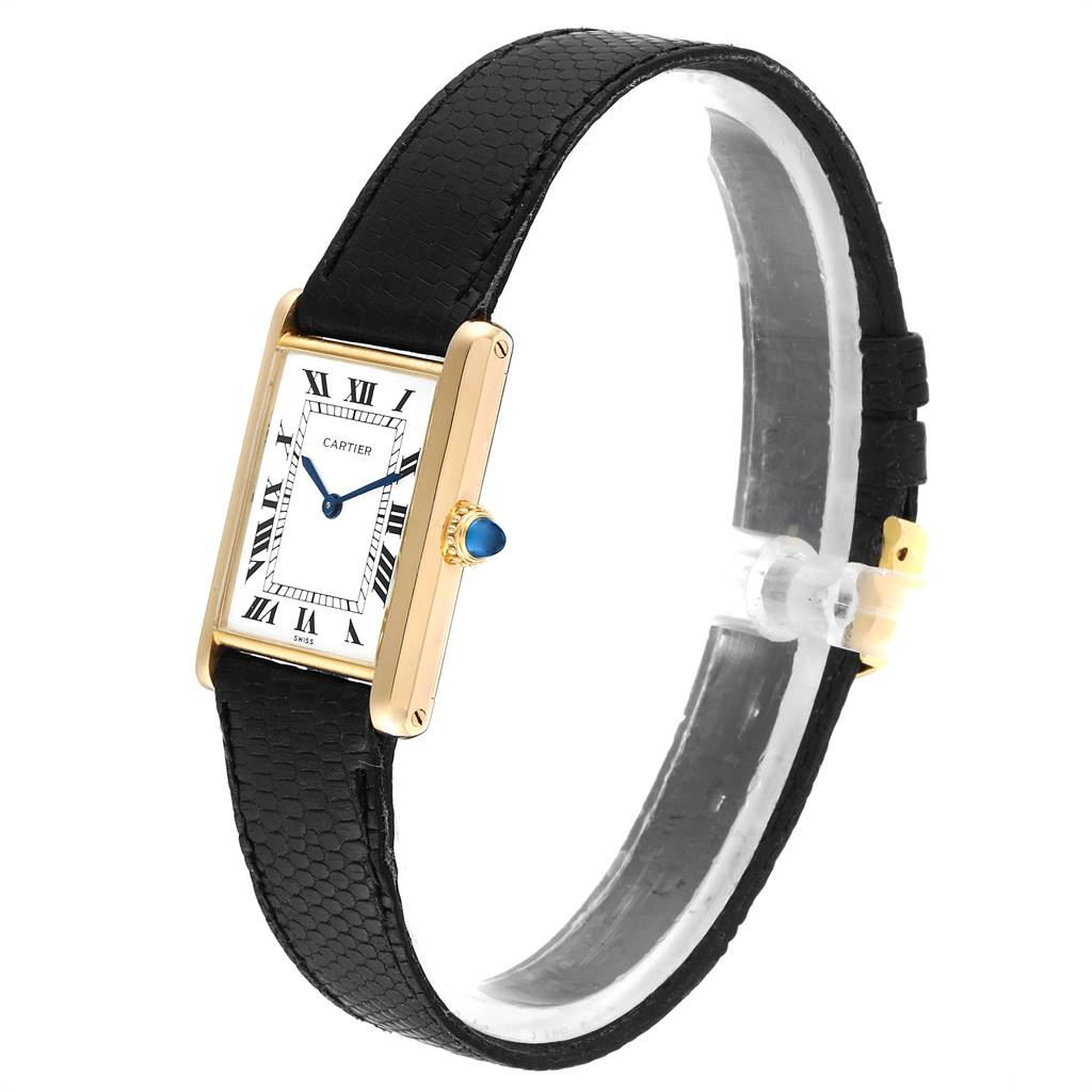 Cartier Tank Classic Paris Yellow Gold Ultra Thin Mechanical Mens Watch SwissWatchExpo