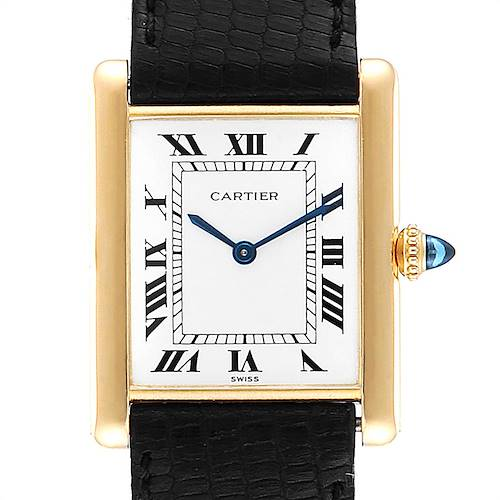 Photo of Cartier Tank Classic Paris Yellow Gold Ultra Thin Mechanical Mens Watch