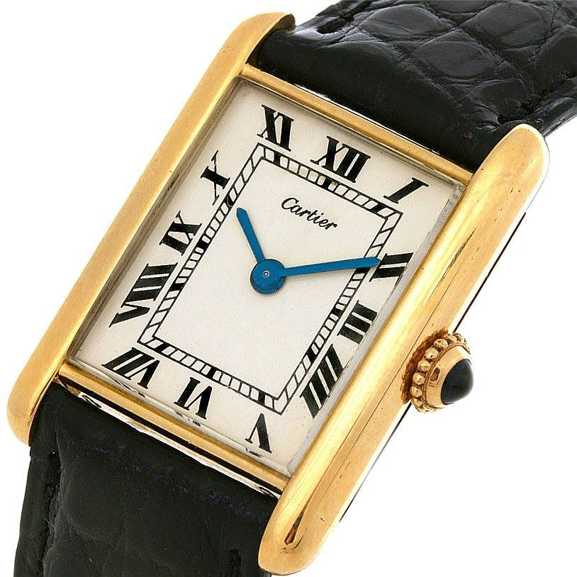 2689 Cartier Tank Classic 18k Gold Jaeger Lecoultre Movement Watch  SwissWatchExpo