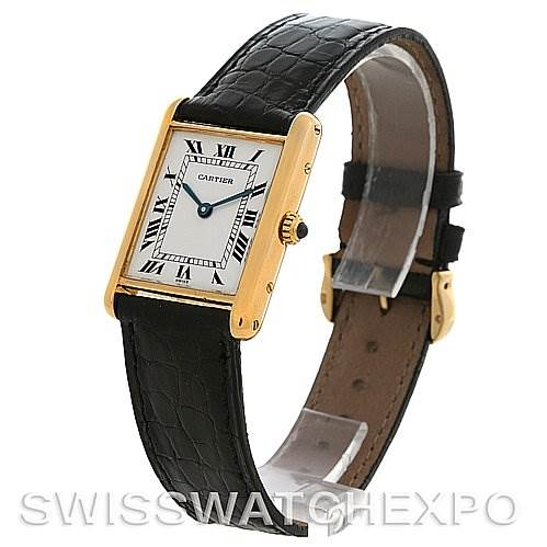 Cartier Tank Classic 18k Yellow Gold Quartz Watch SwissWatchExpo