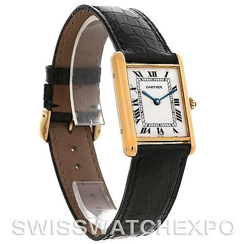 2680 Cartier Tank Classic 18k Yellow Gold Quartz Watch SwissWatchExpo