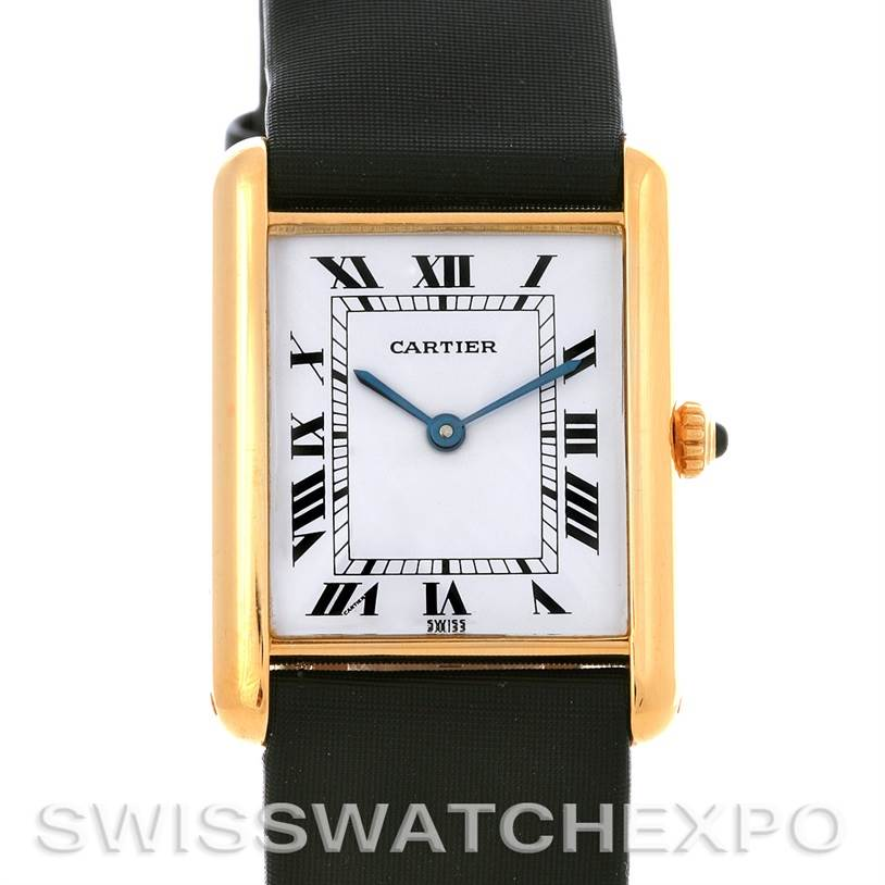 2814 Cartier Tank Classic 18k Yellow Gold Quartz Watch SwissWatchExpo