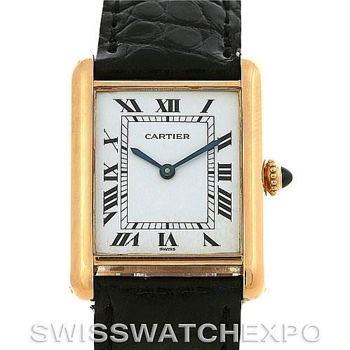 2831 Cartier Tank Classic 18k Yellow Gold Watch SwissWatchExpo