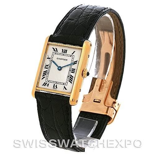 2800 Cartier Tank Classic 18k Yellow Gold Quartz Watch SwissWatchExpo