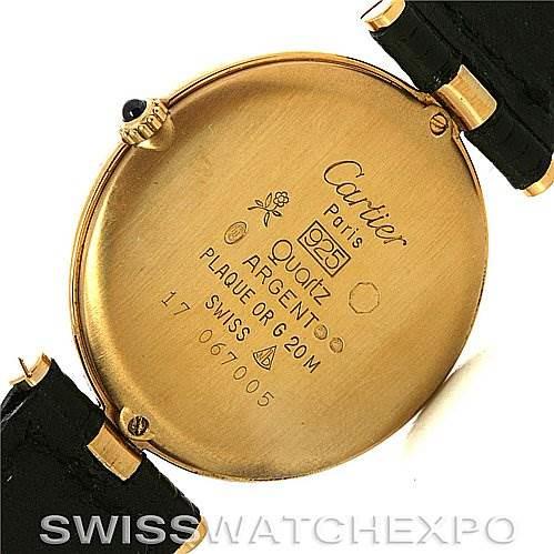 Cartier  18k Yellow Gold Plated Must De Cartier Quartz Watch SwissWatchExpo
