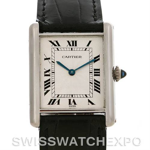 Photo of Cartier Tank Classic Paris  Mecanique Platinum Watch 1601