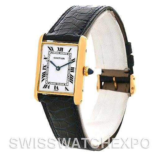 2947 Cartier Tank Classic 18k Yellow Gold Mechanical Watch SwissWatchExpo
