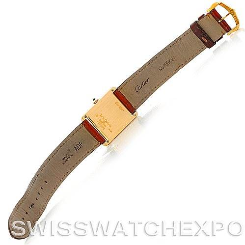 4641 Cartier Tank Classic 18k Yellow Gold Quartz Watch SwissWatchExpo