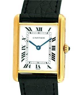 746WC Cartier Mens 18k Yellow Gold Classic Tank Quartz Watch SwissWatchExpo