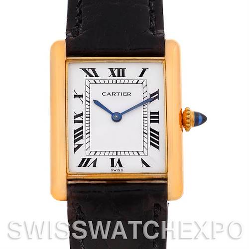 Photo of Cartier Tank Classic 18k Yellow Gold Mechanical Watch
